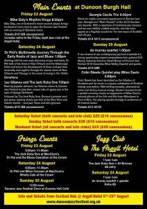 Dunoon Jazz Festival 2109