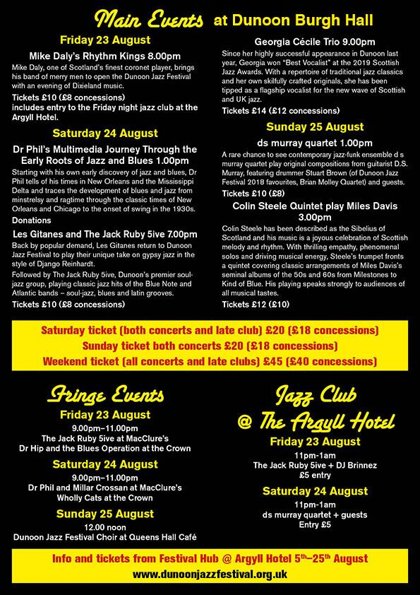 Dunoon Jazz Festival 2109